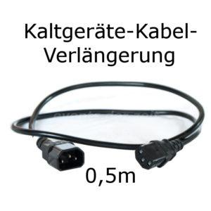 Kaltgeräte Verlängerung Kabel 0,5m Verleih Vermietung Harz