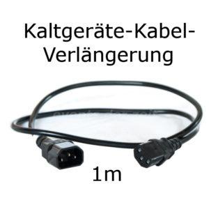 Kaltgeräte Verlängerung Kabel 1m Verleih Vermietung Harz