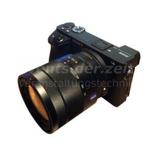Sony Alpha 6500 Kamera SEL1670Z Objektiv Verleih Vermietung Harz